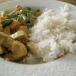 Heerlijke gele curry