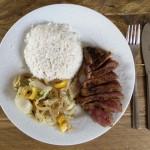 gemarineerde biefstuk met kokosrijst