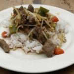 rode curry met biefstuk af