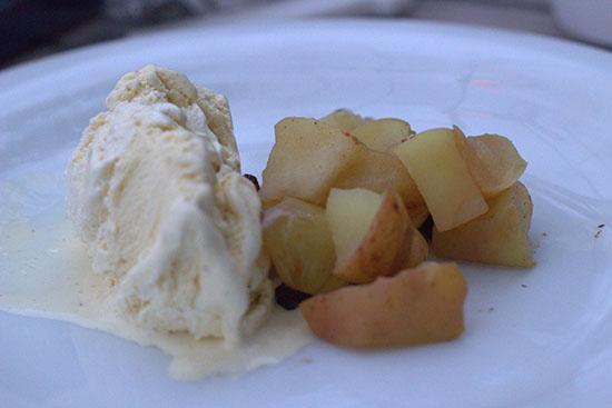 warme appel met ijs