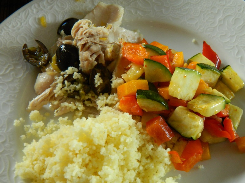 Gestoomde kip met couscous
