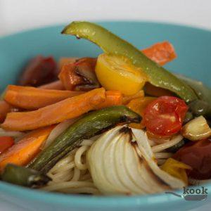 pasta gegrilde groente