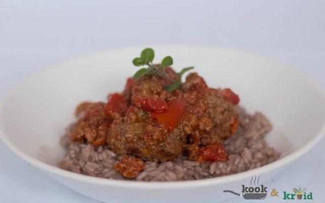 risotto met gehakt